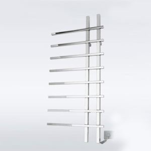 Towel Warmer Modern Simple Silver Wall Mounted Stainless Steel  80W