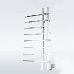 Towel Warmer Modern Simple Silver Wall Mounted Stainless Steel  80W