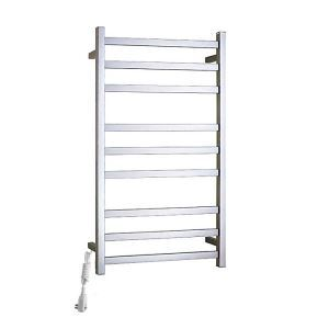 Modern Simple Silver Wall Mounted Stainless Steel Towel Warmer 90W