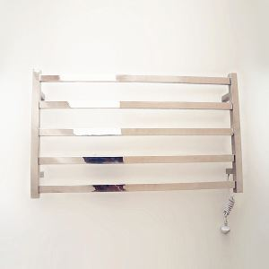 Modern Simple Silver Wall Mounted Stainless Steel Towel Warmer 65W