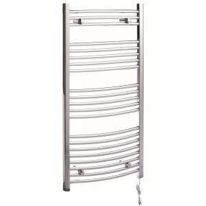 Modern Simple Silver Wall Mounted Stainless Steel Towel Warmer 260W