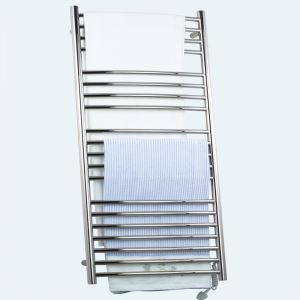 Modern Simple Silver Wall Mounted Stainless Steel Towel Warmer 190W