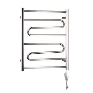 Modern Simple Silver Wall Mounted Stainless Steel Towel Warmer 70W