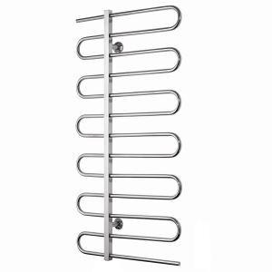 Modern Simple Silver Wall Mounted Stainless Steel Towel Warmer 140W