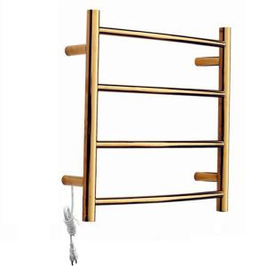 Modern Simple Golden Wall Mounted Stainless Steel Towel Warmer 40W