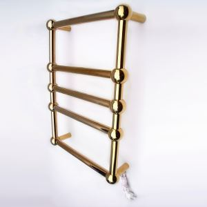 Modern Simple Golden Wall Mounted Stainless Steel Towel Warmer 60W