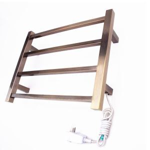Modern Simple Bronze Wall Mounted Stainless Steel Towel Warmer 40W