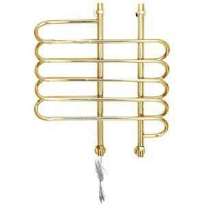 Modern Simple Golden Wall Mounted Stainless Steel Towel Warmer 80W