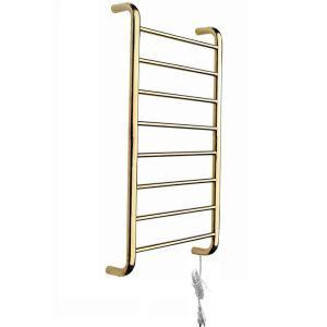 Modern Simple Golden Wall Mounted Stainless Steel Towel Warmer 80W