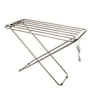 Modern Simple Silver Mobile Stainless Towel Warmer 120W