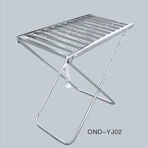 Modern Simple Silver Mobile Stainless Towel Warmer 100W