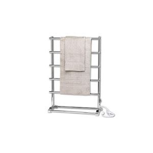 Modern Simple Silver Mobile Stainless Towel Warmer 60W