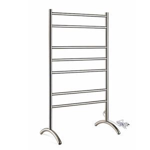 Modern Simple Silver Mobile Stainless Towel Warmer 70W