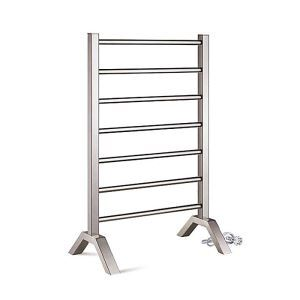 Modern Simple Silver Mobile Stainless Towel Warmer 65W