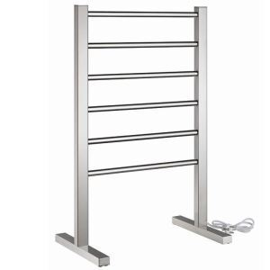 Modern Simple Silver Mobile Stainless Towel Warmer 90W