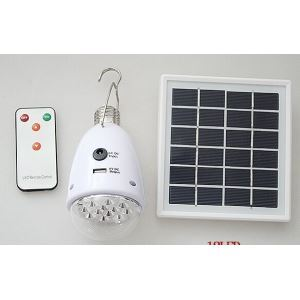 E27 Solar & AC Power Supply 18 LED Bulb Light W /Remote
