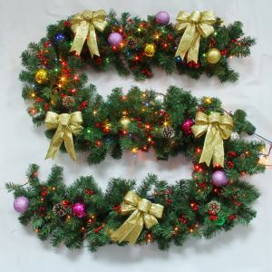 Christmas Decoration Garland with Lights Christmas Rattan Christmas Holiday Decor Christmas Gifts 2.7M