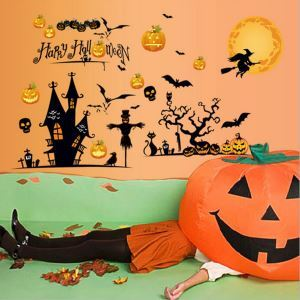Halloween Glass Stiker Scene Layout Decoration  Halloween Holiday Decor Halloween Gifts
