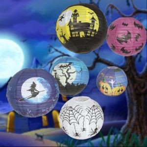 Halloween Pumpkin Paper Lantern Hand lamp Halloween Holiday Decor Halloween Gifts