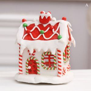 Christmas Polymer Clay Small Snow House for Decoration  Christmas Holiday Decor Christmas Gifts
