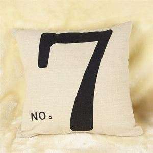 Number Seven Cotton/Linen Decorative Pillow Cases 016
