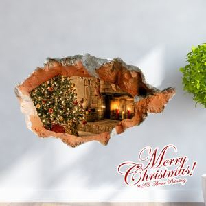 Creative Christmas 3D Decorative Wall Sticker Christmas Holiday Decor Christmas Gifts