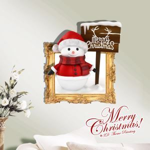 Creative Christmas 3D Snowman Wall Sticker Christmas Holiday Decor Christmas Gifts