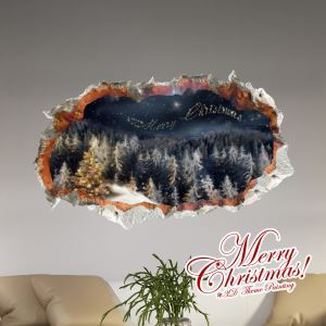 Creative Christmas 3D Christmas Eve's Sky Wall Sticker Christmas Holiday Decor Christmas Gifts