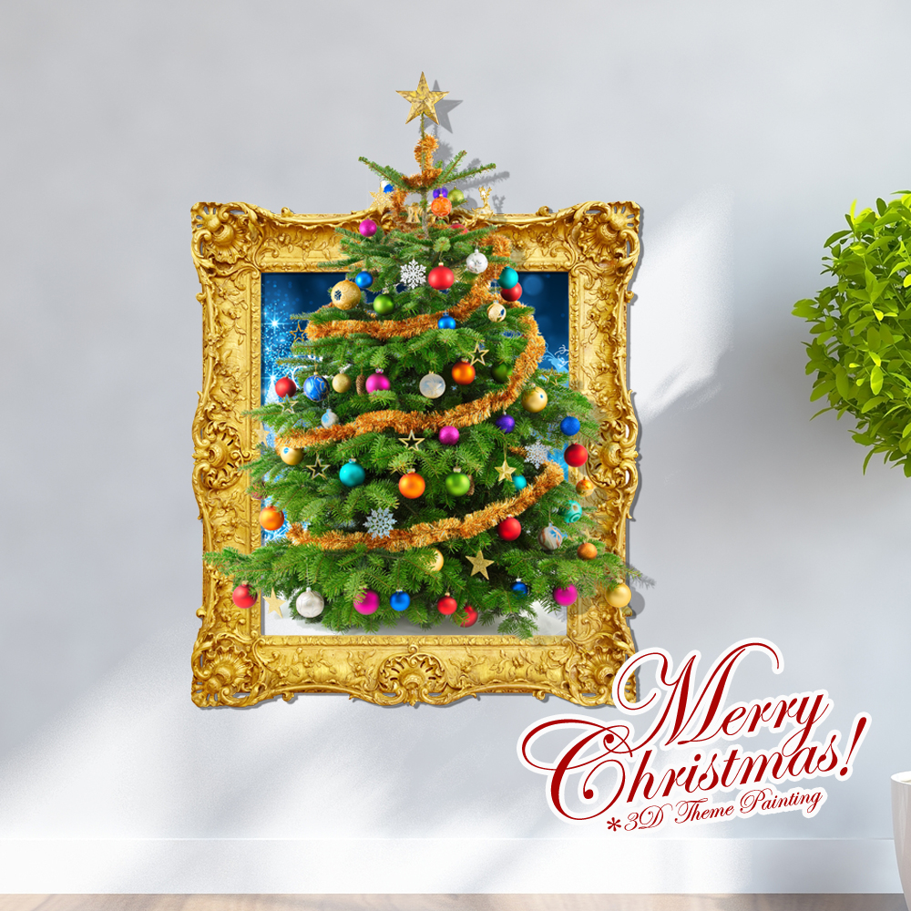 Home decor wall art wall stickers 3d wall stickers home decor wall art wall stickers 3d wall stickers creative christmas 3d christmas tree wall sticker christmas holiday decor christmas gifts amipublicfo Images