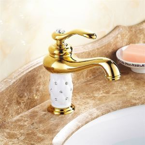 Antique Ti-PVD  Brass One Hole Single Handle Bathroom Sink Faucet