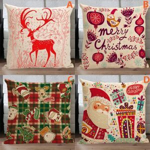 Modern Simple Christmas Sofa Office Cushion Cover 4 Designs Christmas Pillow Cover Christmas Gifts