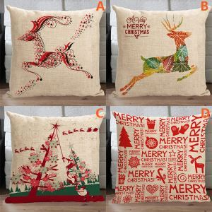 Modern Simple Christmas Sofa Office Cushion Cover 4 Designs Christmas Pillow Cover Christmas Gifts & Christmas Pillow Covers pillowsntoast.com