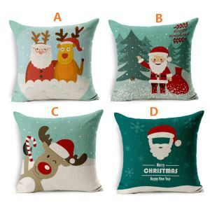 European Christmas Sofa Office Cushion Cover 4 Designs Christmas Pillow Cover Christmas Gifts