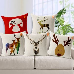 European Christmas Sofa Office Cushion Cover 5 Designs Christmas Pillow Cover Christmas Gifts