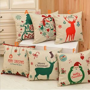 American Country Christmas Sofa Office Cushion Cover 6 Designs Christmas Pillow Cover Christmas Gifts
