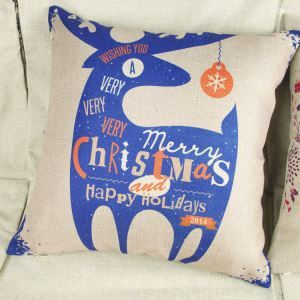 Modern Simple Christmas Reindeer Sofa Office Cushion Cover Christmas Pillow Cover Christmas Gifts