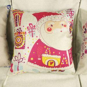 Modern Simple Christmas Santa Claus Sofa Office Cushion Cover Christmas Pillow Cover Christmas Gifts