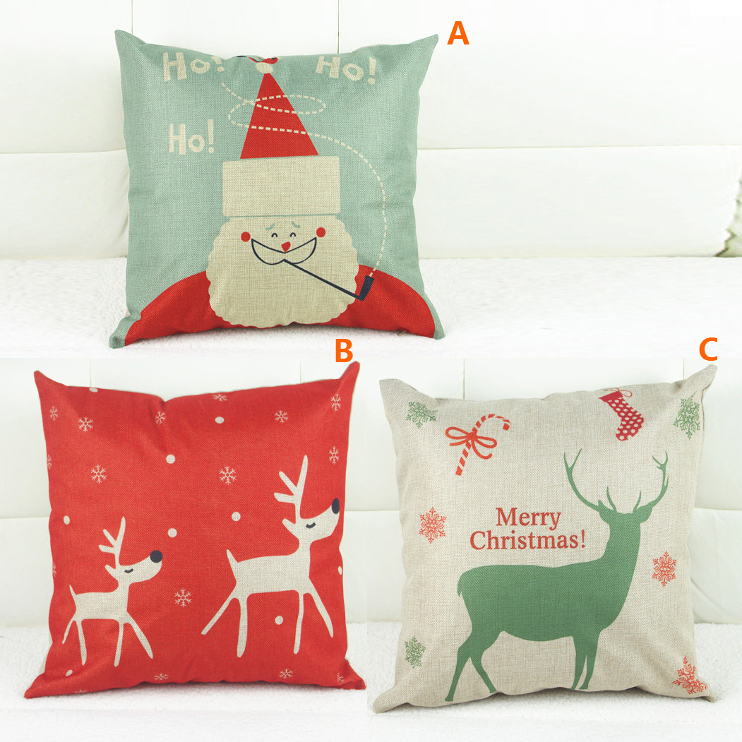 Gifts - Christmas Supplies - Modern Simple Christmas Sofa Office Cushion Cover 3 Designs ...