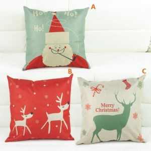 Modern Simple Christmas Sofa Office Cushion Cover 3 Designs Christmas Pillow Cover Christmas Gifts