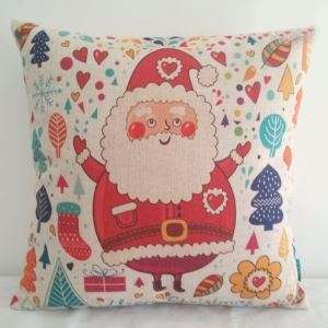 Christmas Santa Claus Sofa Office Cushion Cover Christmas Pillow Cover Christmas Gifts