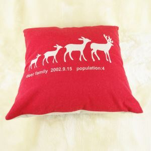 Christmas Reindeer Sofa Office Cushion Cover Christmas Pillow Cover Christmas Gifts