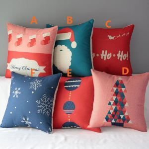 Modern Simple Christmas Cartoon Sofa Office Cushion Cover 6 Designs Christmas Pillow Cover Christmas Gifts