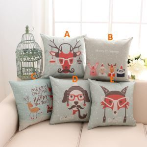 American Country Christmas Sofa Office Cushion Cover 5 Designs Christmas Pillow Cover Christmas Gifts
