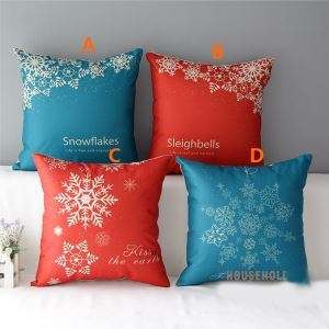 American Country Christmas Sofa Office Cushion Cover 4 Designs Christmas Pillow Cover Christmas Gifts