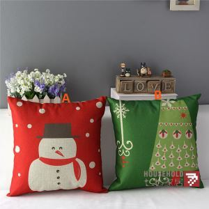 American Country Christmas Sofa Office Cushion Cover 2 Designs Christmas Pillow Cover Christmas Gifts