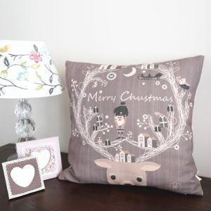 Modern Simple Christmas Reindeer Sofa Office Cushion Cover Christmas Pillow Cover Christmas Gifts