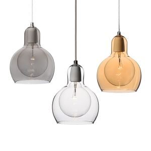 (In Stock)  Mouth-Blown Glass Modern Minimalist Pendant Light with 1 Light Dining Room Lighting Ideas Living Room Lighting Bedroom Ceiling Lights
