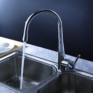 Contemporary Kitchen Faucet - Chrome Finish
