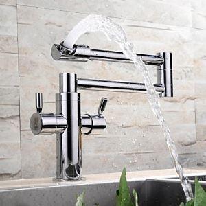 Unique Retractable Kitchen Faucet Cool Chrome Brass Sink Tap