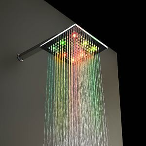 7 Colors Changing LED Chrome Shower Faucet Head of 8 inch